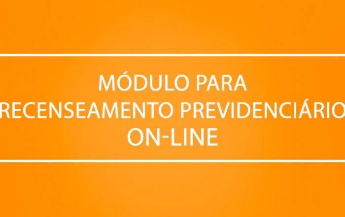 Módulo para Recenseamento Previdenciário On-line