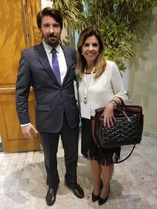 Miguel Cardoso, Diretor Seguridade Social Porto/Portugal e Claudia Nancy Monzani, Diretora Presidente LEMEPREV