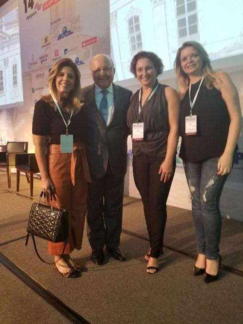 Claudia Nancy Monzani, Mailson da Nobrega, ex-Ministro da Fazenda, Gersiane Gomes Barbosa, Diretora LEMEPREV e Cristina Habermann, Coordenadora