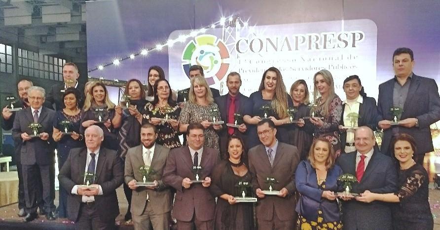 Gestores Municipais e Estaduais ganhadores do Prêmio de Bosa Práticas Gestão Previdenciária