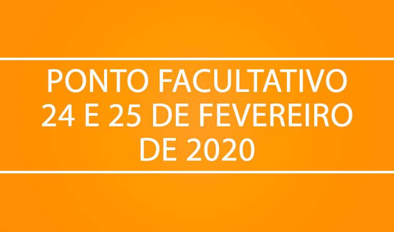 ponto facultativo carnaval 2020