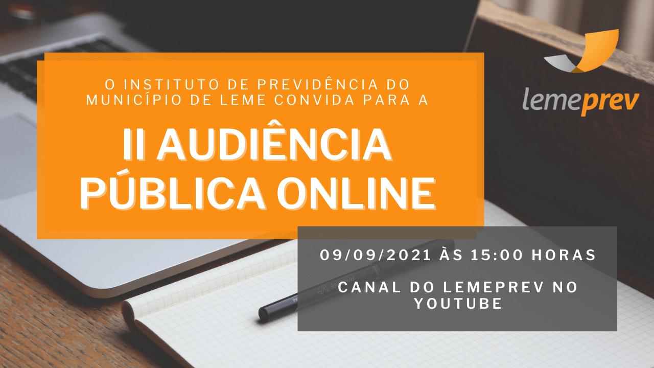 II Audiência Pública Online - Lemeprev